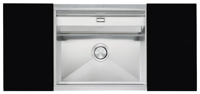 Врезная кухонная мойка smeg VQMX60N2 57х50см нержавеющая сталь