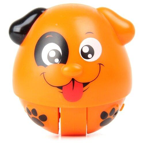 Развивающая игрушка Ути-Пути Хохотушка-покатушка. Собачка коричневый