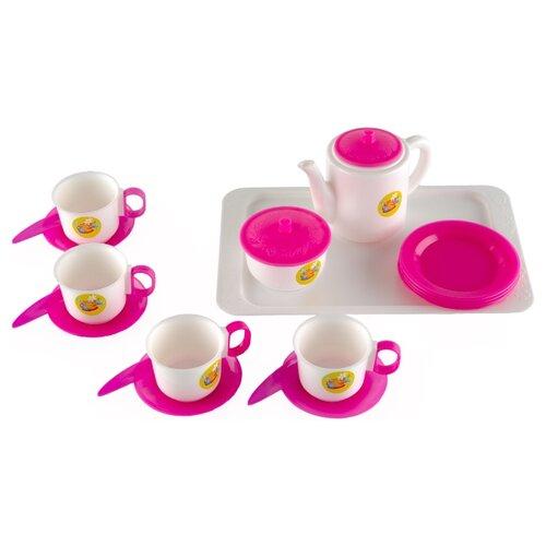 Купить Набор посуды Пластмастер Чайный 21001 разноцветный, Игрушечная еда и посуда
