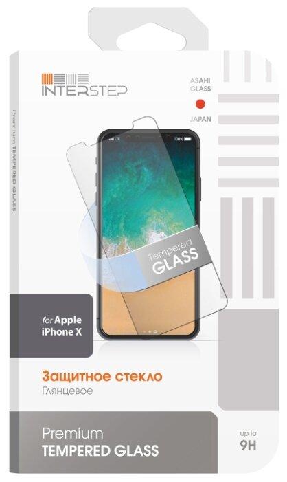 Защитное стекло INTERSTEP для Apple iPhone X прозрачный фото 1
