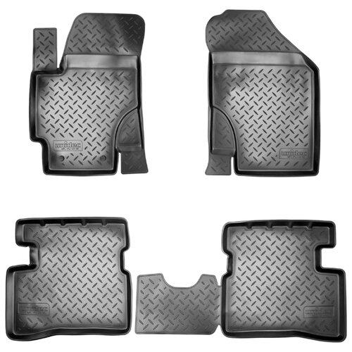 Комплект ковриков NorPlast NPL-Po-43-30 4 шт. черный коврики в салон norplast для dodge caliber 2006 npl po 20 30 черный