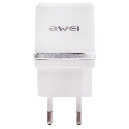 цена Сетевая зарядка Awei C-930 белый / серебристый онлайн в 2017 году