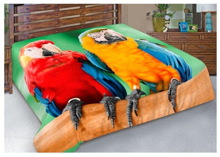 Покрывало Guten Morgen Попугаи Рио, 130 x 170 см