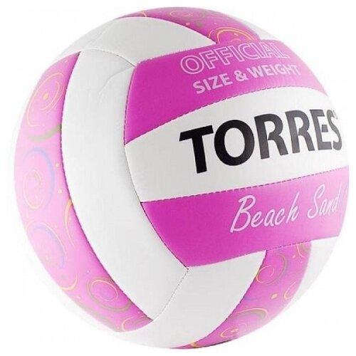 Волейбольный мяч TORRES Beach Sand pink волейбольный мяч torres simple color