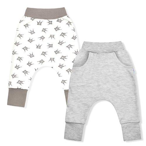 Купить Брюки LEO 1001А-25 размер 86, бежевый/молочный/серый меланж, Брюки и шорты