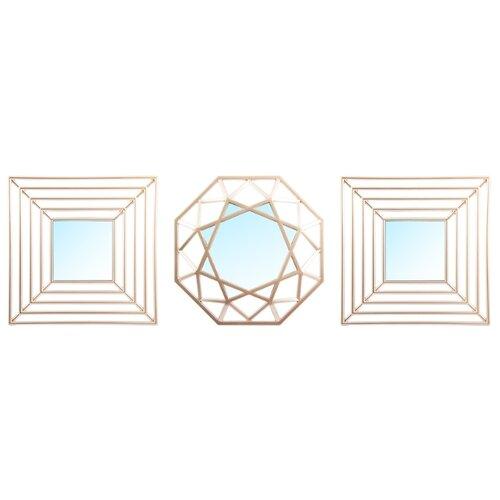 Зеркало Русские подарки набор из 3 шт 68204 25х25 в раме