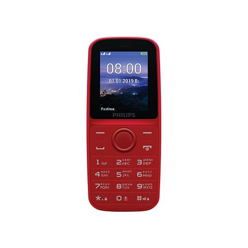 Телефон Philips Xenium E109 красный телефон