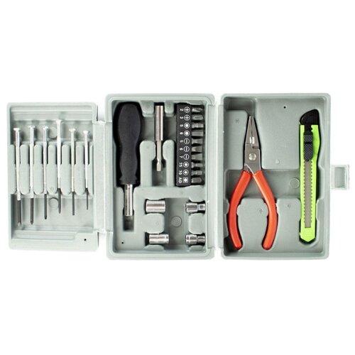 Набор инструментов Удачная покупка (24 предм.) GJH01 серый набор вешалок удачная покупка yj 09 цвет оранжевый 10 шт