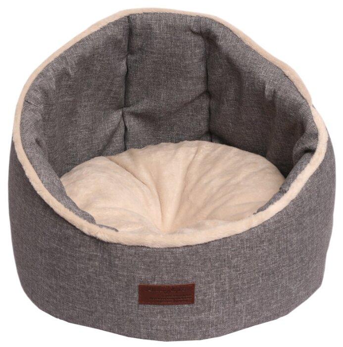 Лежак для кошек, для собак Lion Грэй (LM0103) 40х40х31 см серый