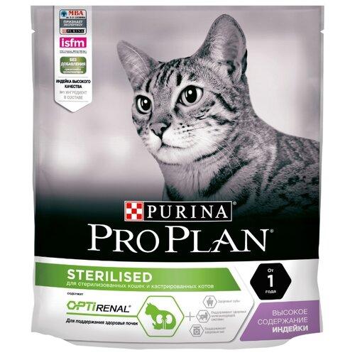Корм для кошек Purina Pro Plan (0.4 кг) Sterilised feline rich in Turkey dryКорма для кошек<br>