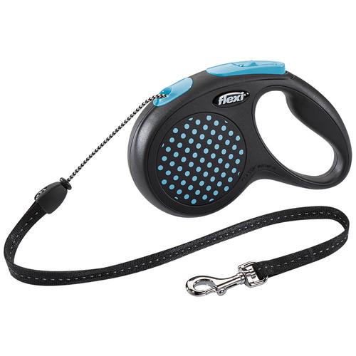 Поводок-рулетка для собак Flexi Design М тросовый синий 5 м