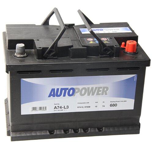 Автомобильный аккумулятор Autopower A74-L3 аккумулятор