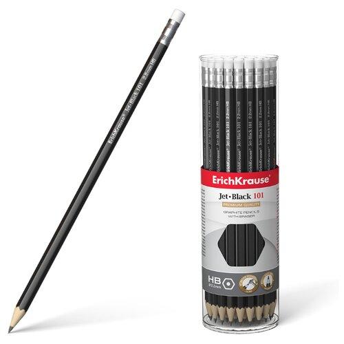 Купить ErichKrause Набор чернографитных карандашей Jet Black 101 42 шт (45606), Карандаши