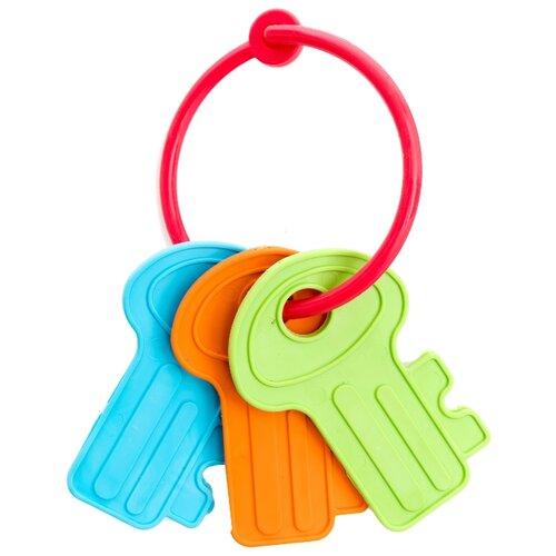 Купить Прорезыватель-погремушка Пластмастер Веселые ключики голубой/зеленый/оранжевый, Погремушки и прорезыватели