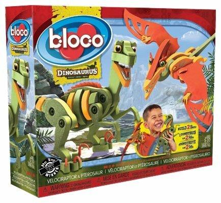 Конструктор Bloco Dinosaurus 20001 Велоцираптор и птерозавр
