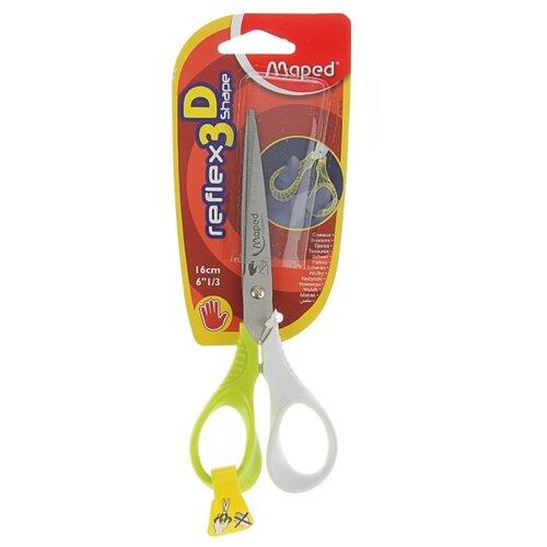 Maped ножницы Reflex 3D Shape для левшей 16см зеленый/белый, Ножницы  - купить со скидкой