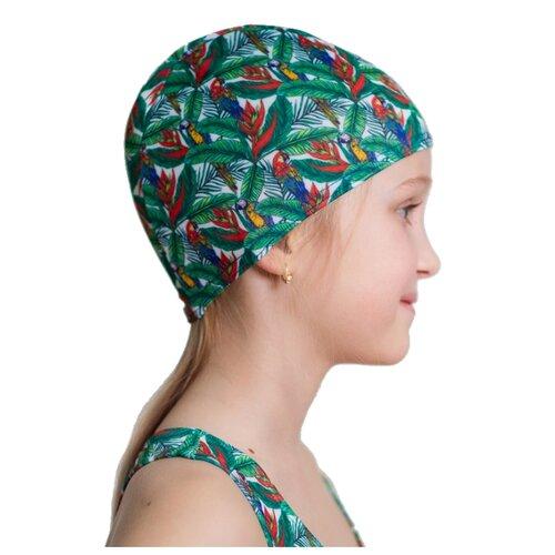 Шапочка для плавания Aruna Попугай зеленый с принтом шапочка для плавания nabaiji шапочка для плавания тканевая с принтом размер l черно–зеленая