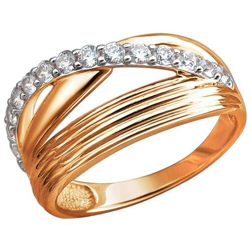 Эстет Кольцо с 15 фианитами из красного золота 01К1113066Р, размер 16.5