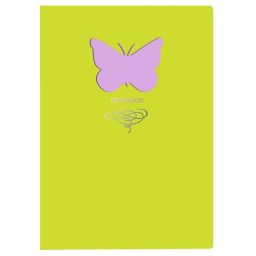 Купить Блокнот Канц-Эксмо Paper Art. Butterfly (салатовый) А6+, 80 листов (КЗБФЛ6802936), Блокноты