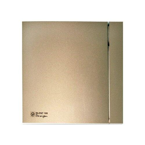 Вытяжной вентилятор Soler & Palau SILENT-100 CZ DESIGN 4C, champagne 8 Вт вытяжной вентилятор soler