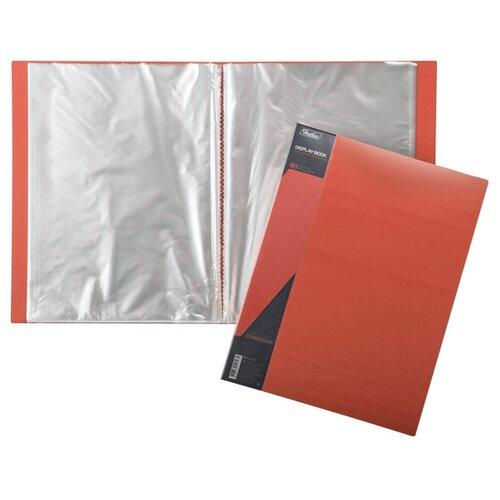 Hatber Папка пластиковая А4 STANDARD на 80 вкладышей красный папка регистратор 80 мм эконом без покрытия