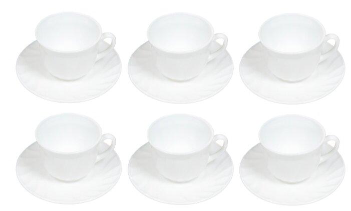 Чайный сервиз Daniks Белый 12 предметов