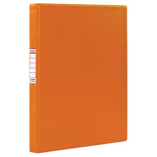 Купить BRAUBERG Папка на 2-х кольцах A4, картон/ПВХ, 35 мм оранжевый, Файлы и папки