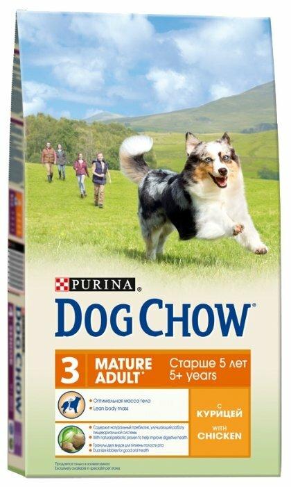 Корм для собак DOG CHOW Mature для здоровья кожи и шерсти, курица 2.5 кг