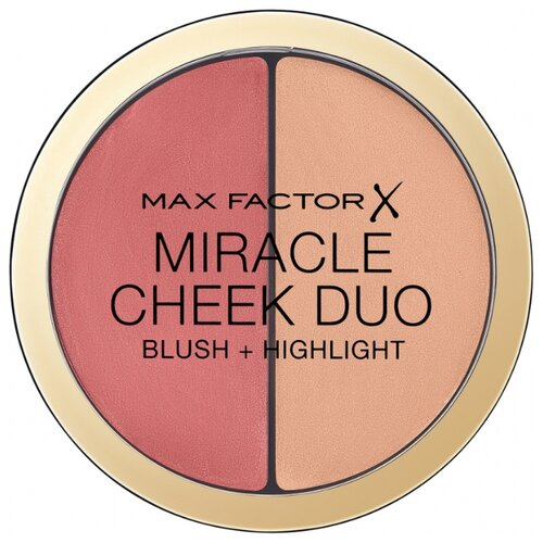 Max Factor Румяна и хайлайтер Miracle Cheek Duo 20 brown peach & champagne хайлайтер max factor max factor ma100lwbrpw6
