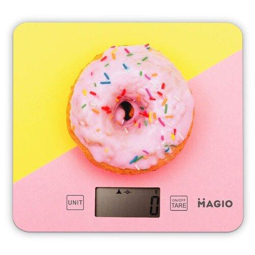 Кухонные весы Magio MG-797 розовый/желтый кухонные весы magio mg 797