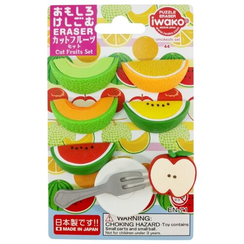 IWAKO Набор ластиков Cut Fruits ассорти