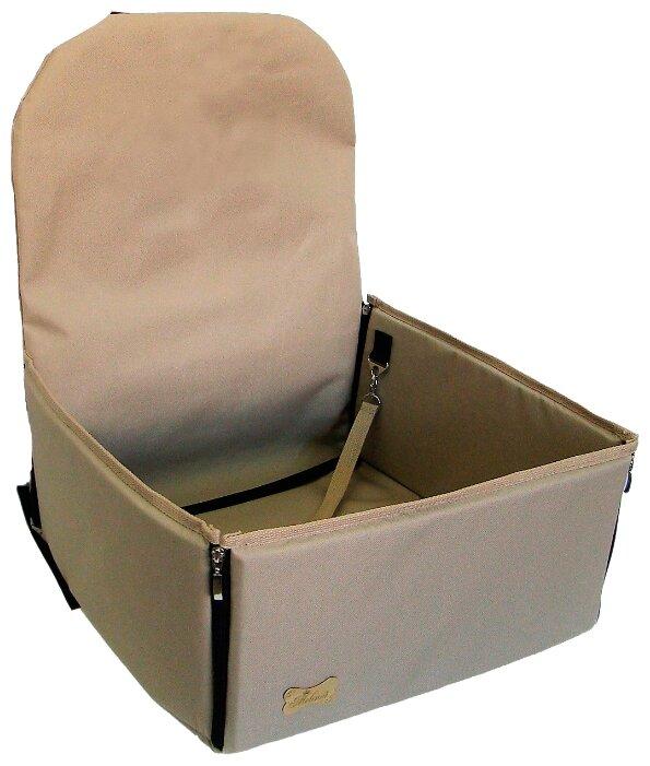 Автогамак для собак Melenni Эконом 45х45х57 см серый камуфляж/черный