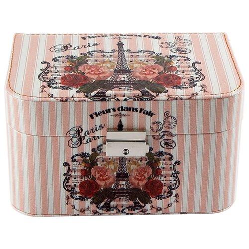 Фото - Русские подарки Шкатулка 84317 белый/розовый подарки
