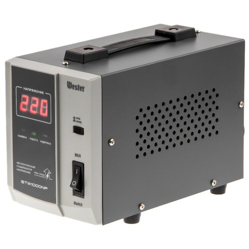 Фото - Стабилизатор напряжения однофазный Wester STW-1000NP (0.8 кВт) stw