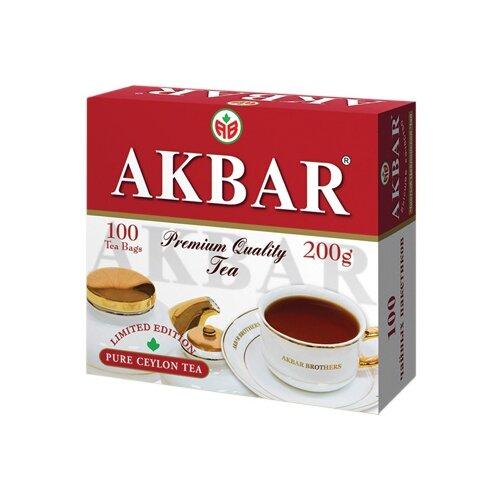 Чай черный Akbar 100 Years Limited Edition в пакетиках , 200 г , 100 шт. цена 2017