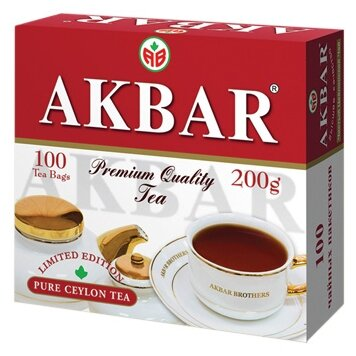 Чай черный Akbar 100 Years Limited Edition в пакетиках, 25 шт.