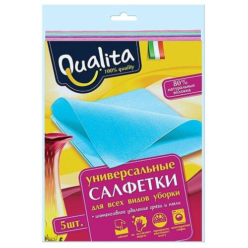 Салфетка универсальная Qualita 5 шт салфетка для уборки qualita 18 20 см 5 шт