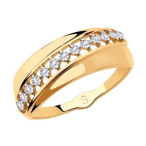 SOKOLOV Кольцо из золота с фианитами 018189, размер 17.5