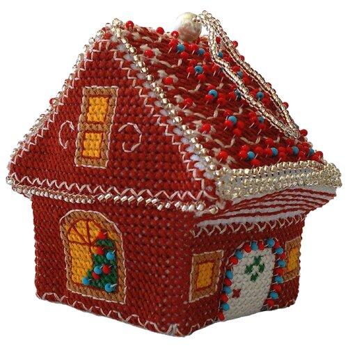 ZENGANA Набор для вышивания бисером и нитками Имбирный домик 8 х 6 см (M-050)