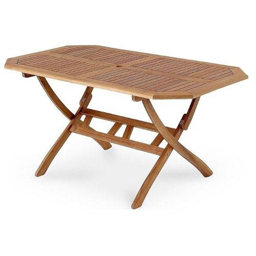 стол раскладной kingcamp bamboo table s kc3935 серый металлик 60 х 45 х 59 см Стол кухонный Brafab Everton, раскладной, ДхШ: 150 х 75 см, коричневый