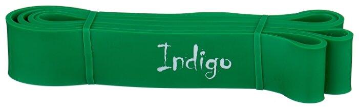 Эспандер универсальный Indigo петля сопротивления Кроссфит POWER 208 х 4.4 см зеленый