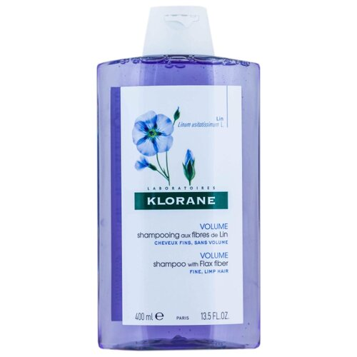 Klorane шампунь Volume with Flax fiber 400 мл где купить шампунь klorane