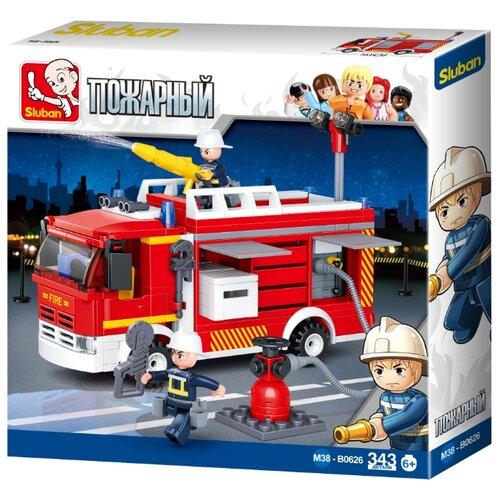цена на Конструктор SLUBAN Пожарные спасатели M38-B0626