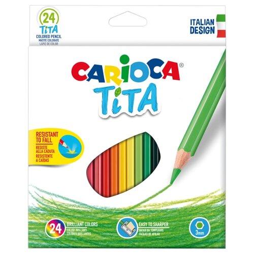 Carioca набор цветных карандашей Tita 24 цвета (42794), Цветные карандаши  - купить со скидкой