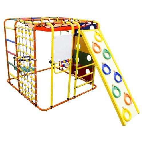 Купить Спортивно-игровой комплекс Формула здоровья Кубик-У Плюс оранжевый/радуга, Игровые и спортивные комплексы и горки