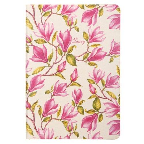Ежедневник Канц-Эксмо In Bloom Магнолии недатированный, искусственная кожа, А6, 128 листов, розовый канц эксмо ежедневник канц эксмо фантастические цветы а5 128 листов недатированный