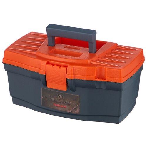 Ящик BLOCKER World of Tanks BR5009 32x18.5x15.2 см 12'' серо-свинцовый/оранжевый ящик с органайзером blocker master br6006 61x32x30 см 24 серо свинцовый оранжевый