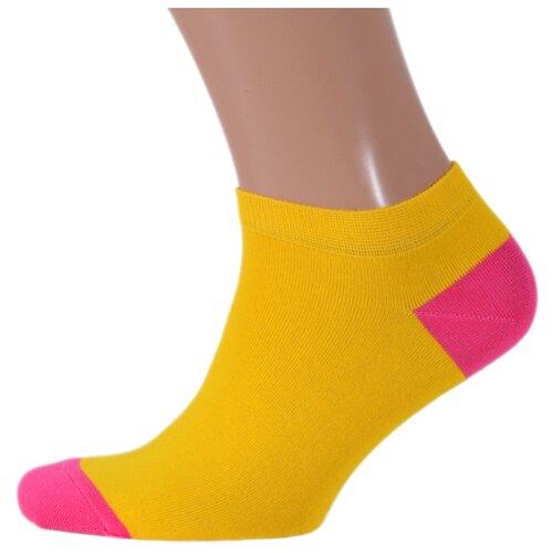 Фото - Носки St. Friday короткие unisex, размер 38-41 , желтый/розовый носки st friday египетская сила размер 38 41 белый коричневый желтый