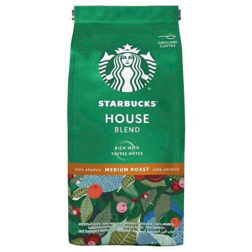Кофе молотый Starbucks House Blend, 200 г кофе индийский молотый espresso blend hindica 200 г