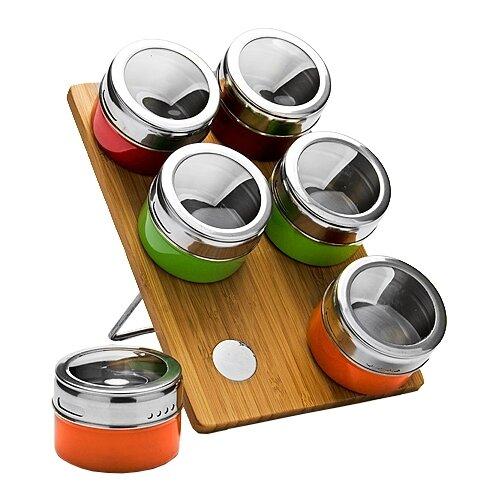 MAYER & BOCH Набор для специй 23522 бамбук/серебристый/зеленый/оранжевый/красный